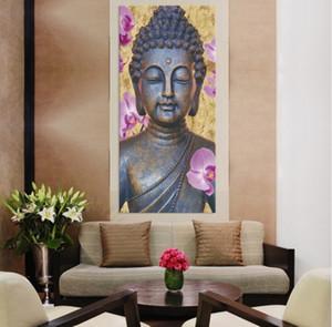 مؤطرة اليد نقي رسمت الحديثة آسيا البوذية فن زيت صورة زيتية المنزل جدار ديكور في ذات جودة عالية قماش سميك متعددة الحجم