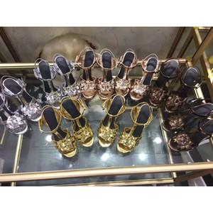 2016 جديد كاندي اللون المصارع الصنادل النساء جلد طبيعي الأحذية منصة مضخات عالية الكعب أحذية امرأة sandalias موهير 35-41