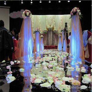 DHL 20m de Entrega por lote 1m de largura Moda plástico prata Espelho tapete Aisle Runners para o contexto Wedding Centerpieces Decoração Suprimentos