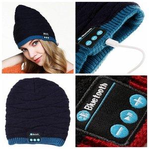100% Original Suave Cálido Beanie Hat Wireless Bluetooth Smart Cap Auricular Auricular Altavoz Micrófono Estéreo Bluetooth Hat 100 piezas YYA576
