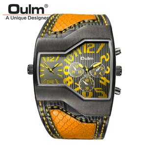 Mode 5 Farben Super Cool Männer Quarz Uhren Oulm Double Time Show Schlange Band Casual Männer Sportuhren Männlich Military Clock