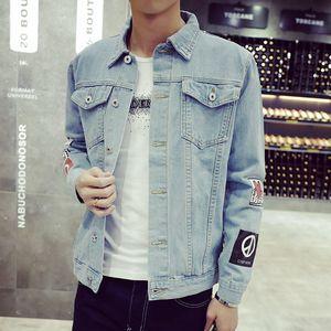 Venta al por mayor- Más el tamaño M-5XL 2016 chaqueta de mezclilla de los hombres de moda de alta calidad Jeans Chaquetas delgado streetwear casual Vintage Mens jean ropa