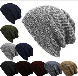 Hot Winter Beanies Solid Color Hats Unisex Plain Warm Soft Beanie Skull Knitted Cap Hip-hop Hat Touca Gorro Caps Men Women