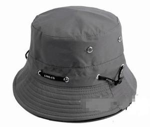 2016 горячие продажа 9 цветов 10 шт. / лот мужская летняя мода открытый Рыбак Hat бассейна cap ведро Hat складной Sun Beach Hat хлопок шапки