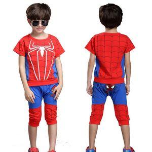 Ropa para niños Spiderman Baby Boy Niños Ropa Chándal Sport Suit Para niño Spider Man Cosplay Disfraces Set de dos piezas