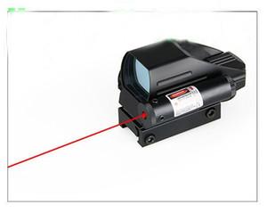 4 Retucks Multi 1x22x33 Red and Green Reflex Sight Lens النطاق مع الليزر الأحمر مع مفتاح بعيد