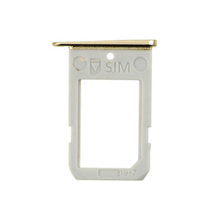 Original New SIM Card Tray For Samsung Galaxy S6 Edge G9250 G925F VS G925T G925A G925V SIM Card Slot Holder Replacement Parts 100PCS