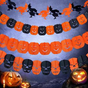 Kette Garland Halloween Kostüme Cosplay Partei Dekorationen Ornament Kürbis Zubehör Schädel Spinne Geist Hexe Prop unheimlich, 13 Stück pro Los