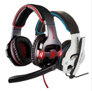 Оригинал Sades SA-903 Pro Gaming Headset 7.1-канальный USB наушники микрофон шумоизоляции PC компьютерная игра наушники бас наушники