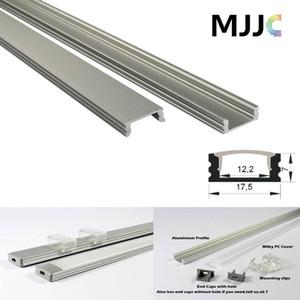 MJJC-LP1707 1M led алюминиевый профиль прозрачный молочный матовый PC обложка для LED гибкая полоса LED жесткая полоса до 12 мм ширина