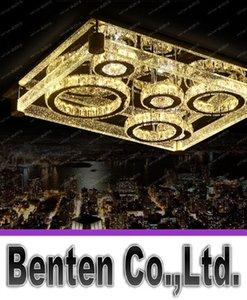 Led tavan ışık dikdörtgen kristal lamba modern kısa kabarcık kristal kristal sütun lambaları LLFA lüks
