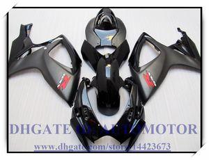 Высокое качество 100% новый обтекатель комплект подходит для Suzuki GSXR600 / 750 K6 2006 2007 GSXR 600 GSXR 750 06-07 #FD635 черный