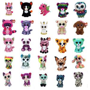 Ty Beanie Boos Plush Toy Doll 17cm Big Eyes Stuffed Animals Doll for Baby Girl Birthday Gift Cat Owl Frog Elephant Huskey