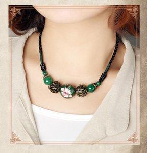 2017 nuevo diseño original collar de la joyería, señoras de ágata retro broche de cadena, colgante, accesorios al por mayor envío gratis
