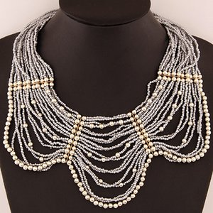 Gifts Summer Sale Bohemia Ethnic Foreign Trade Costume Fashion Jewelry Beads Collar Accessories Cahrm Chokers Statement Necklaces For Women