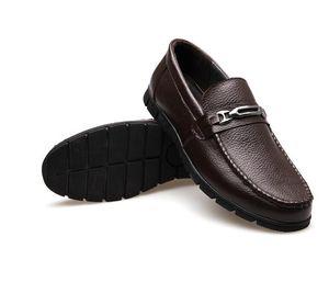 Nuevo estilo de mocasines para hombre estilo italiano de lujo Slip On Buckle Smart zapatos de vestir casual para hombres hombres Boda y fiesta Slip on Flat Z434