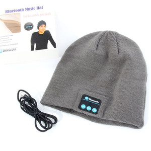 Gros-New chaud Bonnet sans fil Bluetooth à puce Cap Casque Haut-parleur Mic