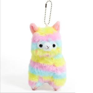 14cm 레인보우 Alpacasso 박제 동물 카와이 알파카 라마 Arpakasso 부드러운 플러시 장난감 인형 선물 50 개 YYA614