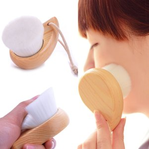 Útiles de limpieza Cuidado de bambú cepillo de mango de madera Facial Cleansing lavado la cara del cepillo de Limpieza profunda de los poros de la piel femenina