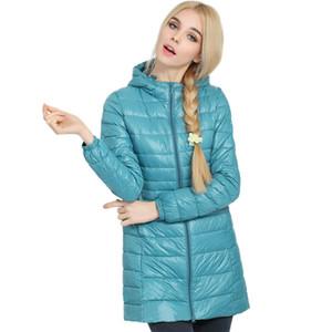 En gros-femmes manteau d'hiver 2016 Top qualité marque dames longues femmes manteaux ultra léger 90% blanc canard vers le bas manteau avec sac femmes