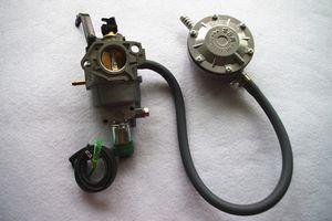 LPG комплект для переоборудования для Honda GX390 GX420 389CC 420CC 5500 6500 7500 5KW генератор бесплатная доставка двойной пропан бензиновый карбюратор