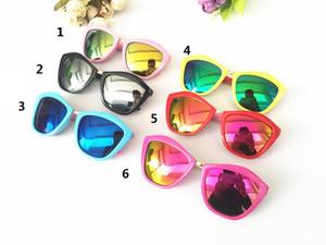 Moda retrò Occhiali da sole Bambini a forma di quadrato Occhiali da sole colorati riflettenti UV400 Occhiali da sole miglior regalo per bambino