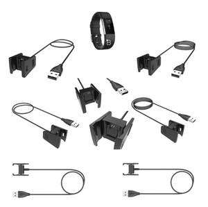 Substituição USB Power carregamento Cord Cabo Carregador Cabo Para Fitbit taxa de 2 Smartband 55 centímetros / 1 centímetro preto / rosa / azul