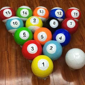 5 # gonflable Snook Ballon de football 16 Pièces Billiard Ball Snooker Football Snookball extérieur billard Kick jeu