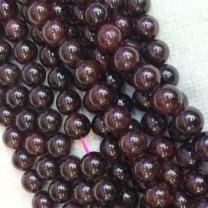"Desconto Atacado Natural Red Garnet Redonda Solta Pedra Beads 6mm-10mm Fit Jóias DIY Colares ou Pulseiras 16 ""04276"