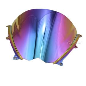 5 Цвет мотоцикл двойной пузырь лобовое стекло лобовое стекло 2007-2008 Suzuki GSXR 1000 K7 07-08 иридий бесплатная доставка