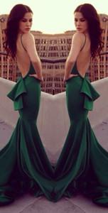 Vestido de noite verde esmeralda 2018 Michael Costello sereia sexy real fez celebridade vestidos s001
