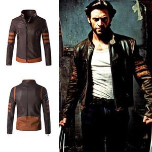 Wolverine Jacke Zip Slim Fit Kunstleder Bikerjacke Herren Winter Braun Vintage Motorrad Lederjacken Herren Plus Size 4XL