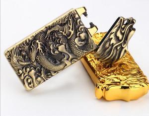 Agitare induzione di accensione Accendini incisione Drago Arc USB ricaricabile senza fiamma antivento accendino elettronico 5 colori con confezione regalo