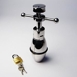 US Dehnen der sexy neuen Edelstahlmänner männlich # R172 Bondage Chastity Device Lock Rtrxn