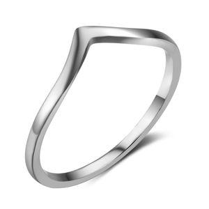 anillo de plata de la moda estampada s925 Europa de onda de diseño sencillo venta caliente S925 de gama alta joyería al por mayor para mujeres de la señora
