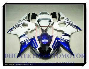Injection brand new fairing kit 100% fit for YAMAHA YZF R6 2003-2005 2004 YZF R6 03 04 05 YZFR6 YZF600 2003-2005 2004 #HL295 WHITE BLUE