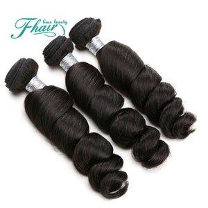 """De Buena Calidad Productos para el cabello 3Pcs al por menor ondulado 10 """"-30"""" pulgada Extensión del pelo indio de la onda suelta 3 paquetes Gran remy extensiones de cabello humano"""