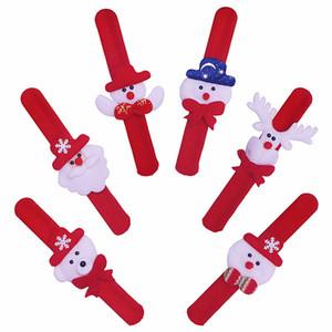 De noël tapoté main cercle père noël slap bracelet noël décoration bracelet bonhomme de neige enfants jouets cadeau fête décoration