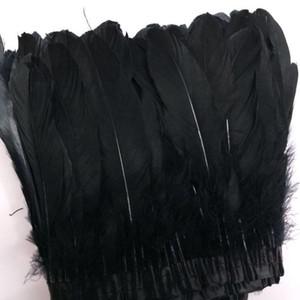 Los flecos de plumas de ganso Trimming 2Yards pluma de ganso del ajuste de coser del vestido de plumas de ganso Disfraces Recorte de plumas teñidas Cintas