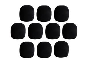 10 шт Черного Микрофон пена Крышки Mic Grill лобовое стекла ветрового стекло для ручного микрофона