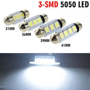 31mm 36mm 39mm 41mm LED Dôme Festoon 3x5050 smd leds lampe intérieure Blanc ampoule 12v