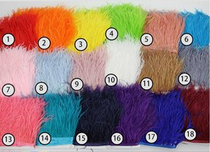 Wholesale Ostrich Feather Decorations Feathers Accessories Real Feathers Size 10cm-15cm Multiple 19 Colours Black Gray Purple Free Shipping