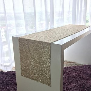 High density sequins pure color table flag 28*275cm many colors to choose Table Cloth Sparkly Bling for Wedding Party Decoration HK92