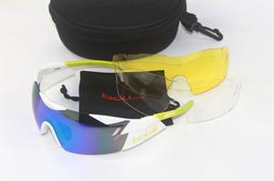 2016 Bolle Moda EV Güneş Gözlüğü 3 Çift Lens Polarize Güneş Gözlüğü Açık Spor Bisiklet Güneş Gözlüğü