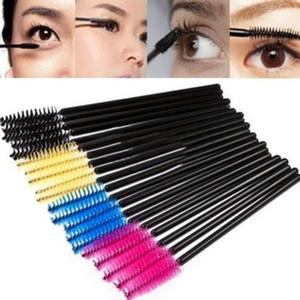 Gros- Nouveau 200pcs / lot pinceau de maquillage en fibres synthétiques One-Off jetable pinceau cils Mascara Applicator Wand Brush