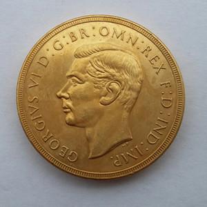 RARE 1937 GRÃ-BRETANHA rei George VI PROVA DE OURO 2 libras COIN Promoção barato preço de fábrica Nice Home Acessórios moedas de prata