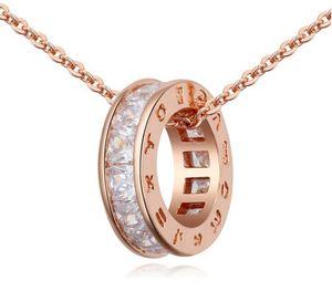 Collier Bijoux De Mode De Luxe Femmes Zircon 18K Plaqué Or Cercle Colliers Colliers Chaîne De Clavicule Collier En Gros TN080