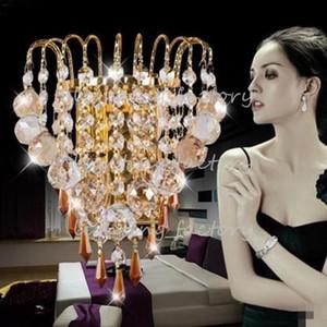 Nuevo Crystal Chandelier Lámparas de pared Crystal Lighting Modern Minimalist Living Room Lámpara LED Dormitorio Luces Restaurante con líneas de diseño