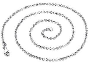 Takı için 925 ayar gümüş zincirler kolye diy çapraz link zinciri kadın erkek chokers beyaz altın moda yeni gelmesi yaz severler için 6 adet