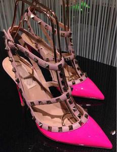 fashionville * navire libre! U409 40/41/34 VRAI CUIR v STUD STRAPPY TALONS chaussures de luxe designer runway celeb mode femmes 2017